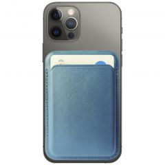 Accezz Leather Wallet Cardholder mit MagSafe - Dunkelblau