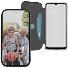 Samsung Galaxy A12 Gel Bookstyle gestalten (einseitig)