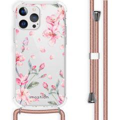 iMoshion Design Hülle mit Band iPhone 13 Pro - Blume - Rosa