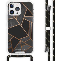 iMoshion Design Hülle mit Band iPhone 13 Pro - Grafik-Kupfer - Schwarz