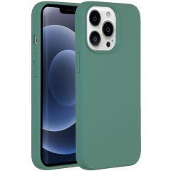 Accezz Liquid Silikoncase iPhone 13 Pro - Dunkelgrün