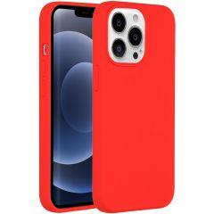 Accezz Liquid Silikoncase iPhone 13 Pro - Rot