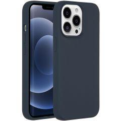 Accezz Liquid Silikoncase iPhone 13 Pro - Dunkelblau