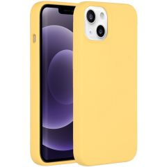 Accezz Liquid Silikoncase iPhone 13 - Gelb