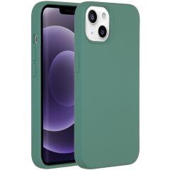 Accezz Liquid Silikoncase iPhone 13 - Dunkelgrün