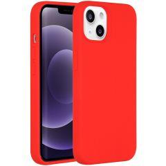 Accezz Liquid Silikoncase iPhone 13 - Rot