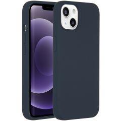 Accezz Liquid Silikoncase iPhone 13 - Dunkelblau