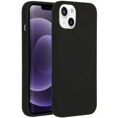 Accezz Liquid Silikoncase iPhone 13 - Schwarz
