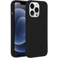 Accezz Liquid Silikoncase mit MagSafe iPhone 13 Pro - Schwarz