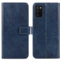 iMoshion Luxuriöse Buchtyp-Hülle für das Samsung Galaxy A03s - Dunkelblau