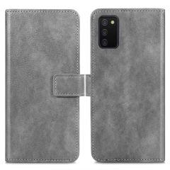 iMoshion Luxuriöse Buchtyp-Hülle für das Samsung Galaxy A03s - Grau