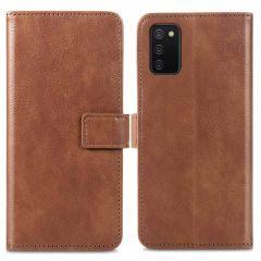 iMoshion Luxuriöse Buchtyp-Hülle für das Samsung Galaxy A03s - Braun