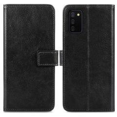 iMoshion Luxuriöse Buchtyp-Hülle für das Samsung Galaxy A03s - Schwarz