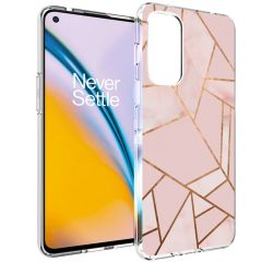 iMoshion Design Hülle OnePlus Nord 2 - Graphic - Rosa / Gold