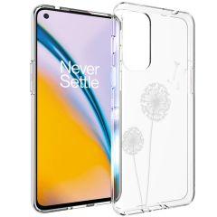 iMoshion Design Hülle OnePlus Nord 2 - Pusteblume - Weiß