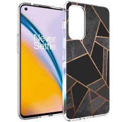 iMoshion Design Hülle OnePlus Nord 2 - Graphic - Schwarz / Gold