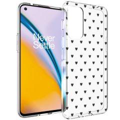 iMoshion Design Hülle OnePlus Nord 2 - Herzen - Schwarz