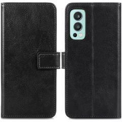 iMoshion Luxuriöse Buchtyp-Hülle für das OnePlus Nord 2 - Schwarz