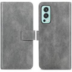 iMoshion Luxuriöse Buchtyp-Hülle für das OnePlus Nord 2 - Grau