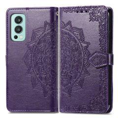 iMoshion Mandala Booktype-Hülle für das OnePlus Nord 2 - Violett