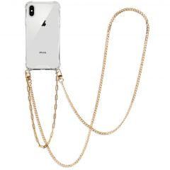 iMoshion Back Cover mit Band + Handgelenkschlaufe +Kette iPhone Xs/X