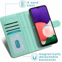 iMoshion Luxuriöse Portemonnaie-Hülle Galaxy A22 (5G) - Grün