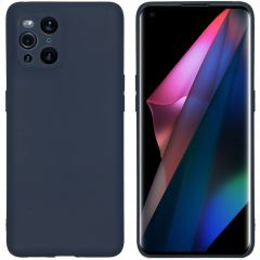 iMoshion Color TPU Hülle Oppo Find X3 Pro 5G - Dunkelblau