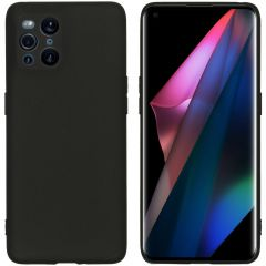 iMoshion Color TPU Hülle Oppo Find X3 Pro 5G - Schwarz