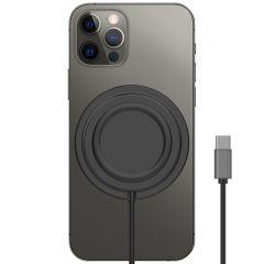 Accezz USB-C auf MagSafe Wireless Charger Anti-Rutsch - Schwarz