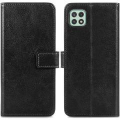 iMoshion Luxuriöse Buchtyp-Hülle Samsung Galaxy A22 (5G) - Schwarz