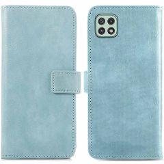 iMoshion Luxuriöse Buchtyp-Hülle Samsung Galaxy A22 (5G) - Hellblau