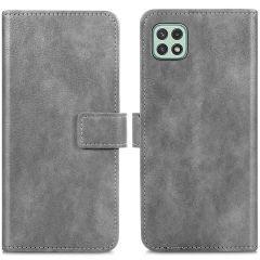 iMoshion Luxuriöse Buchtyp-Hülle Samsung Galaxy A22 (5G) - Grau