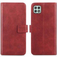 iMoshion Luxuriöse Buchtyp-Hülle Samsung Galaxy A22 (5G) - Rot