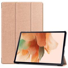 iMoshion Trifold Bookcase Samsung Galaxy Tab S7 Plus / Tab S7 FE 5G - Gold