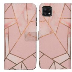 iMoshion Design TPU Booktype Hülle Galaxy A22 (5G) - Pink Graphic