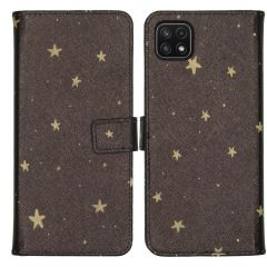iMoshion Design TPU Booktype Hülle Galaxy A22 (5G) - Stars Gold