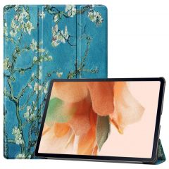 iMoshion Design Trifold Bookcase Galaxy Tab S7 Plus / Tab S7 FE 5G - Green Plant