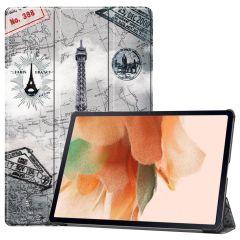 iMoshion Design Trifold Bookcase Galaxy Tab S7 Plus / Tab S7 FE 5G - Paris