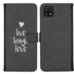 iMoshion Design TPU Booktype Hülle Galaxy A22 (5G) - Live Laugh Love