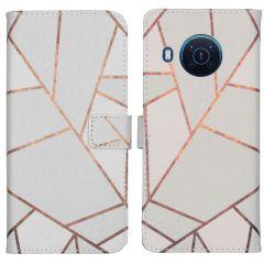 iMoshion Design TPU Booktype Hülle Nokia X10 / X20 - White Graphic