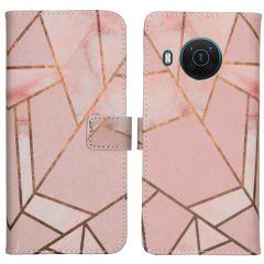 iMoshion Design TPU Booktype Hülle Nokia X10 / X20 - Pink Graphic