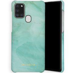 Selencia Maya Fashion Backcover Samsung Galaxy A21s - Marble Green