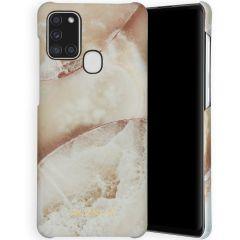 Selencia Maya Fashion Backcover Samsung Galaxy A21s - Earth White