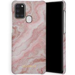 Selencia Maya Fashion Backcover Samsung Galaxy A21s - Marble Rose
