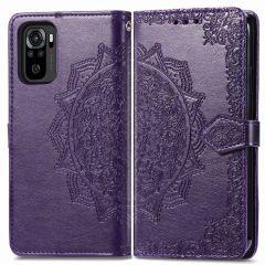 iMoshion Mandala Booktype-Hülle Xiaomi Redmi Note 10 (4G) / Note 10S - Violett