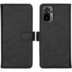 iMoshion Luxuriöse Buchtyp-Hülle  Xiaomi Redmi Note 10 (4G) / Note 10S - Schwarz