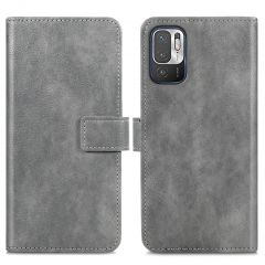 iMoshion Luxuriöse Buchtyp-Hülle Xiaomi Redmi Note 10 (5G) - Grau