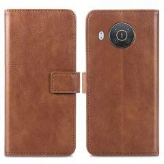iMoshion Luxuriöse Buchtyp-Hülle Nokia X10 / X20 - Braun