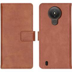 iMoshion Luxuriöse Buchtyp-Hülle Nokia 1.4 - Braun