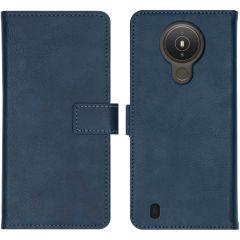 iMoshion Luxuriöse Buchtyp-Hülle Nokia 1.4 - Dunkelblau